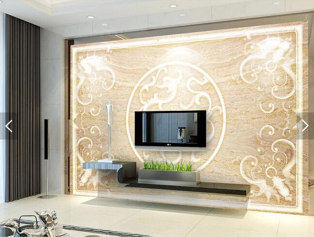 欧式背景墙 古典欧式边框花纹电视背景墙